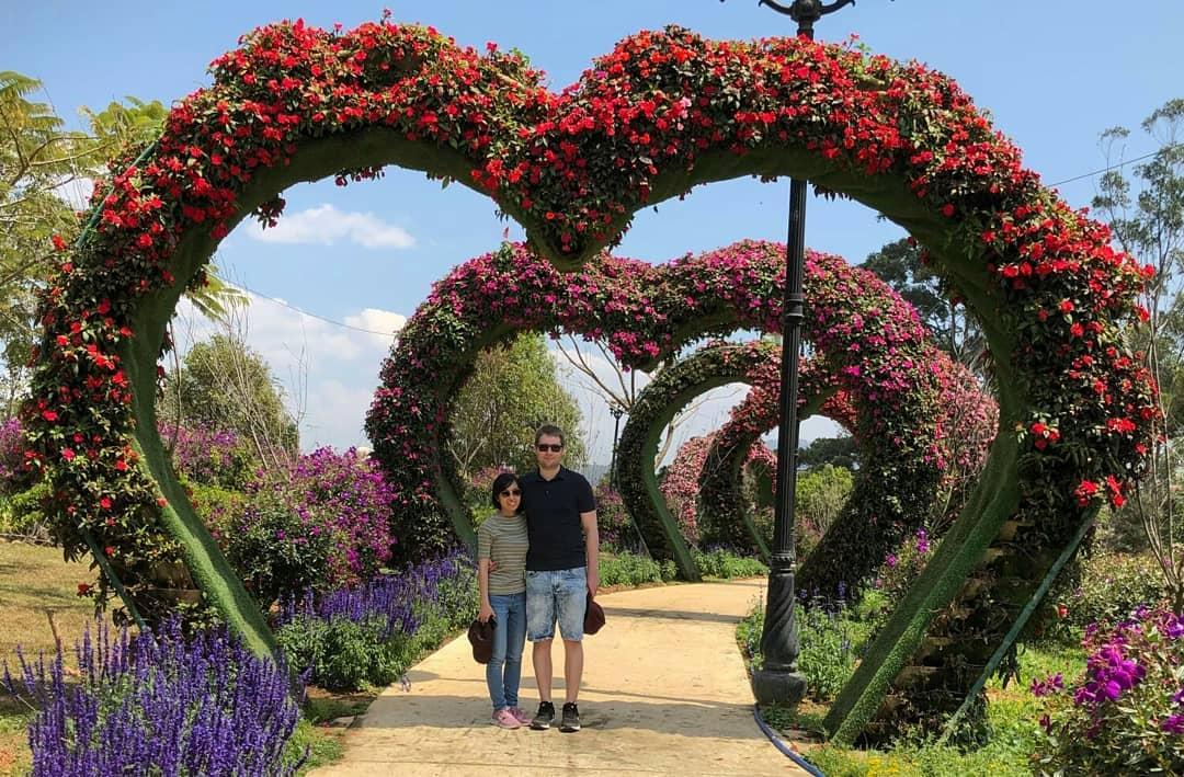 Vườn hoa thành phố Đà Lạt  thuexedalat.org